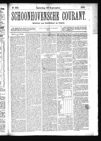 Schoonhovensche Courant 1885-09-26