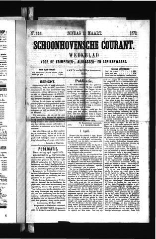 Schoonhovensche Courant 1872-03-31