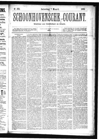 Schoonhovensche Courant 1885-03-07