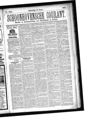 Schoonhovensche Courant 1911-06-10