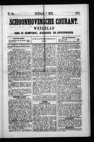 Schoonhovensche Courant 1871-05-07