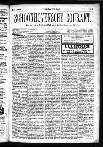 Schoonhovensche Courant 1919-07-25