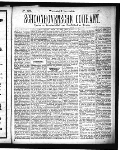 Schoonhovensche Courant 1911-11-01