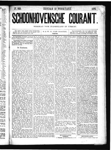 Schoonhovensche Courant 1876-02-13