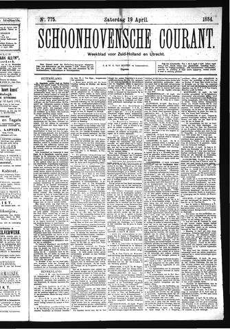 Schoonhovensche Courant 1884-04-19