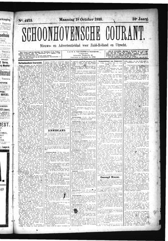 Schoonhovensche Courant 1920-10-18