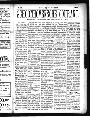 Schoonhovensche Courant 1893-10-25