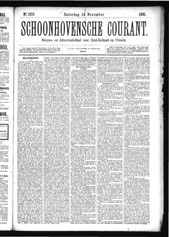 Schoonhovensche Courant 1891-11-14