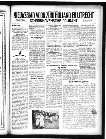 Schoonhovensche Courant 1952-09-15