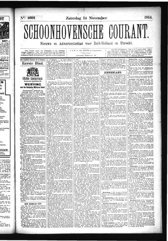 Schoonhovensche Courant 1914-11-14