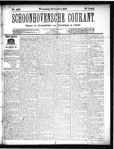 Schoonhovensche Courant 1921-10-19