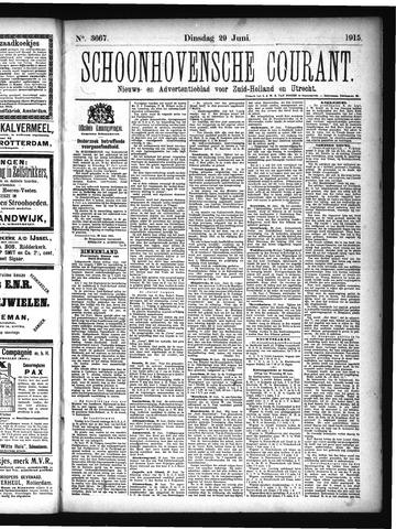 Schoonhovensche Courant 1915-06-29