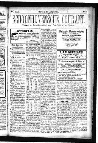 Schoonhovensche Courant 1918-08-16
