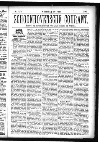 Schoonhovensche Courant 1894-06-20