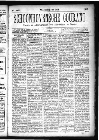 Schoonhovensche Courant 1913-07-23