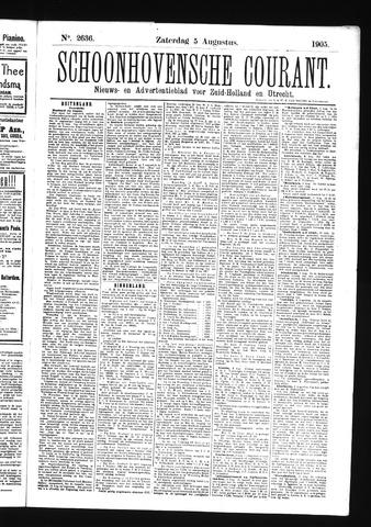 Schoonhovensche Courant 1905-08-05