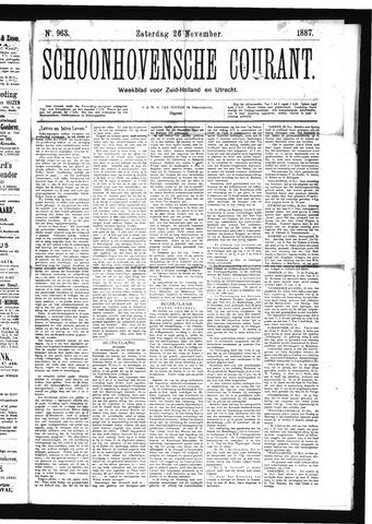 Schoonhovensche Courant 1887-11-26