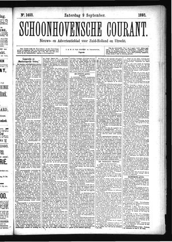 Schoonhovensche Courant 1893-09-09