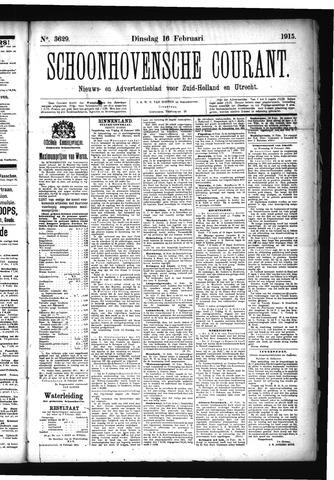 Schoonhovensche Courant 1915-02-16