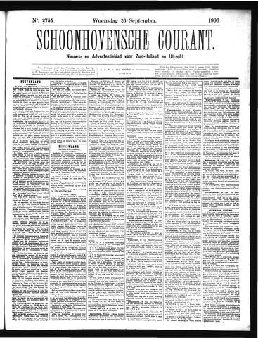 Schoonhovensche Courant 1906-09-26