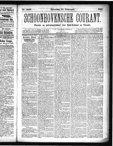 Schoonhovensche Courant 1913-02-22