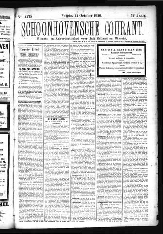 Schoonhovensche Courant 1920-10-22