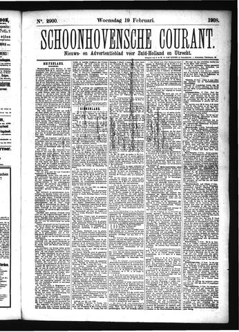 Schoonhovensche Courant 1908-02-19