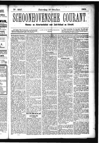 Schoonhovensche Courant 1902-10-18