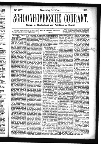 Schoonhovensche Courant 1900-03-14