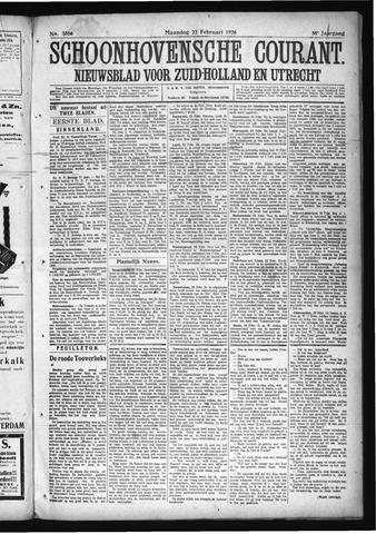 Schoonhovensche Courant 1926-02-22