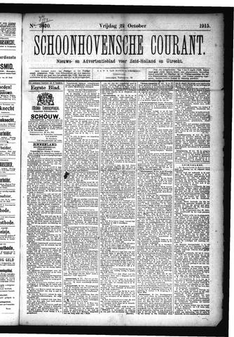 Schoonhovensche Courant 1915-10-22