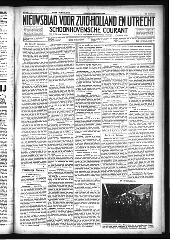 Schoonhovensche Courant 1933-09-18