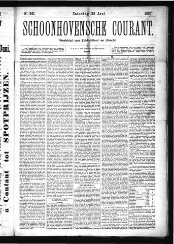 Schoonhovensche Courant 1887-06-25