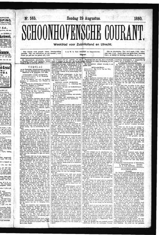 Schoonhovensche Courant 1880-08-29