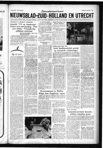 Schoonhovensche Courant 1960-09-23