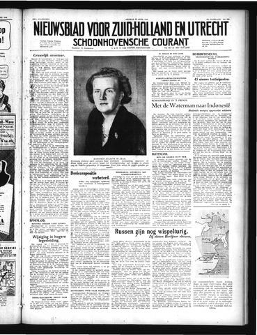 Schoonhovensche Courant 1949-04-29