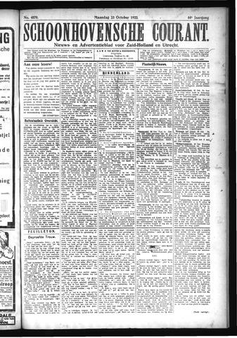 Schoonhovensche Courant 1922-10-23