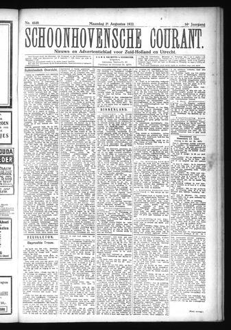 Schoonhovensche Courant 1922-08-21