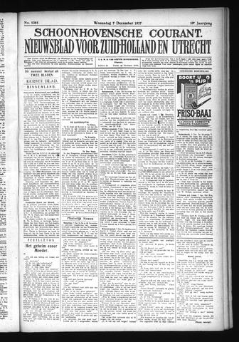 Schoonhovensche Courant 1927-12-07
