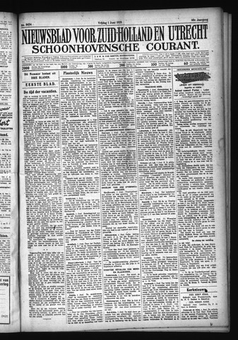 Schoonhovensche Courant 1928-06-01