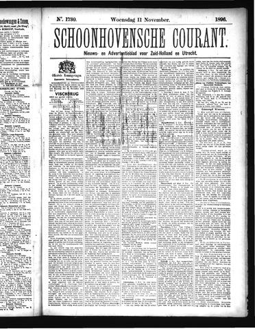 Schoonhovensche Courant 1896-11-11