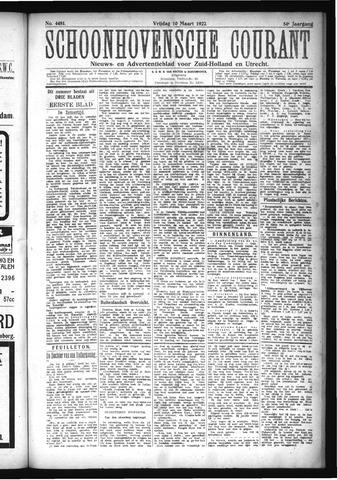 Schoonhovensche Courant 1922-03-10