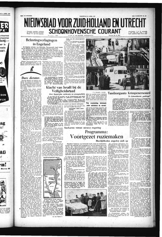 Schoonhovensche Courant 1957-04-10