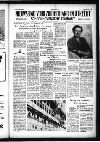 Schoonhovensche Courant 1956-04-27