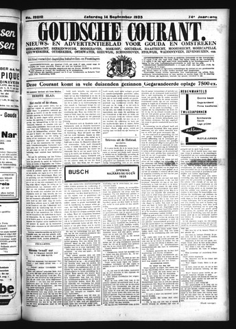 Goudsche Courant 1935-09-14