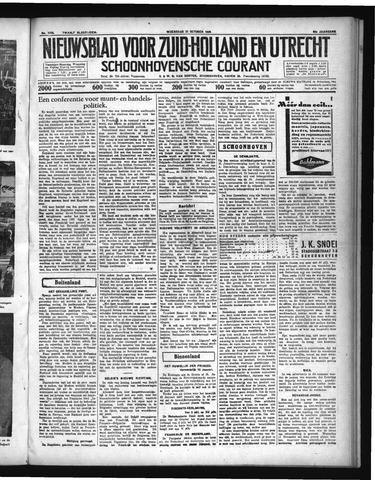 Schoonhovensche Courant 1936-10-21