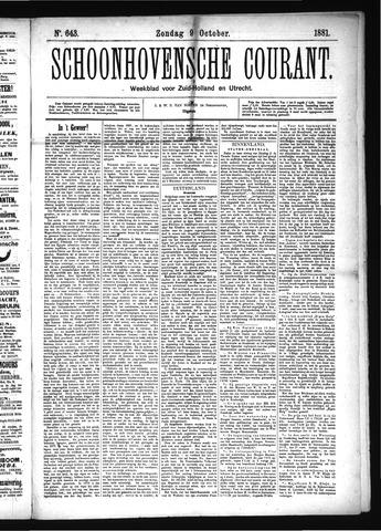 Schoonhovensche Courant 1881-10-09