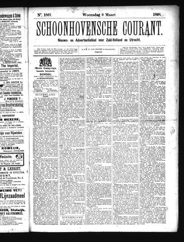 Schoonhovensche Courant 1898-03-09