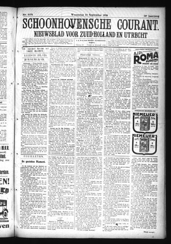 Schoonhovensche Courant 1926-09-22