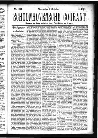 Schoonhovensche Courant 1898-10-05